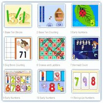 This has math games for all math areas, including multiplication, fractions, and probability.