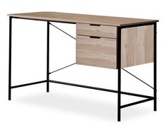 Mercury Row This desk will look great in a study room, a living room or even in your office. Office Furniture, Office Desk, Huge Tv, Buy Desk, Computer Workstation, Laminated Mdf, Office Essentials, Writing Desk, Wood And Metal