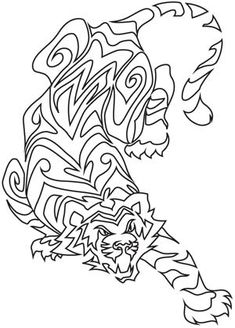 Fresh, creative designs and tutorials for machine and hand embroidery. Colouring Pages, Adult Coloring Pages, Coloring Sheets, Cat Silhouette Tattoos, Silhouette Images, Embroidery Stitches, Embroidery Patterns, Hand Embroidery, Tiger Design