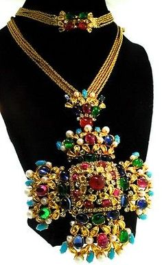 1969 CHRISTIAN DIOR Germany Couture Maltese Cross Necklace Pendant Brooch/Pin