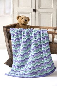 Caron International | Free One Pound Project | Lullaby Baby Blanket