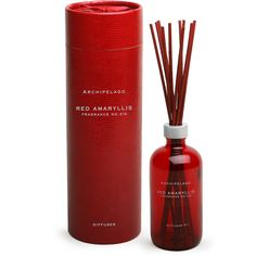 Archipelago Botanicals Red Amaryllis Reed Diffuser ($60) ❤ liked on Polyvore featuring home, home decor, home fragrance, red, scent diffuser, scent bottle, scented reed diffuser, fragrance diffuser and aroma reed diffuser