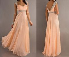 Bridesmaid Dresses  Long Chiffon Prom Dresses by onlineDress, $120.00......i like this for my actual dress not bridesmaids