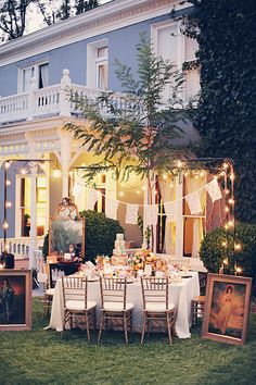 lace flags and string lights // event design by ForevermoreEvents.com shot by Gideon Photo