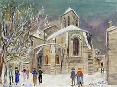 Париж на картинах Мориса Утрилло (Utrillo)