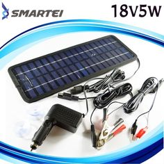 Solar Trickle Charger Car Auto Boat Mower Marine ATV Jet 5w Battery Maintainer #smartei