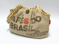 Recycled burlap Coffee Sack bag – a unique product by EllaOsix