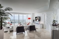 Wonderful Eclectic Miami Getaway Stylehaus Design Interior With Contemporary White Sofa Furniture Decoration Ideas
