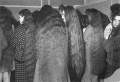 Contestants at the first longest hair competition in Lithuania, 1992 Among the 100+ participating women, only eleven made it to the final round. The first places went to women with hair length of 1,95 m, 1,69 m and 1,66 m.