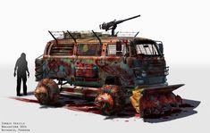 Zombie Vehicle, Nathaniel Pengson on ArtStation at https://www.artstation.com/artwork/zombie-vehicle