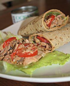 Mediterranean Tuna Artichoke Wraps: Healthy Tuna Recipes with Ocean Naturals