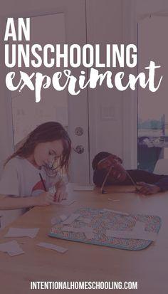 A Homeschool Unschooling Experiment