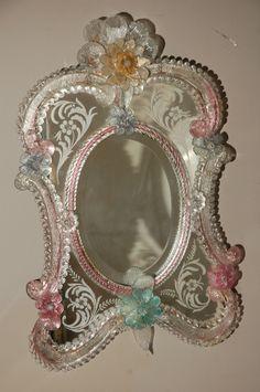 Colorful Vintage Venetian Mirror