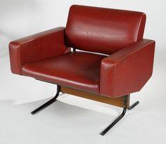Pierre Guariche, fauteuil Caracas, ©tradart-deauville.auction.fr Dream Furniture, Sofa Furniture, Sofa Chair, Furniture Making, Vintage Furniture, Armchair, Furniture Design, Furniture Ideas, Pierre Guariche