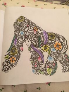 Working on this! Coloured background first, now to fill in with colour! #milliemarotta #adultcolouring #colouringin