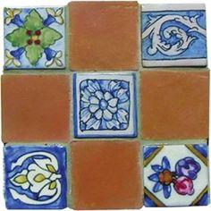 Mosaic Madness Petite Terra Cotta 6 x 6 Hand Painted Ceramic Tile Painting Ceramic Tiles, Mosaic Tiles, Mosaic Madness, House Tiles, Decorative Tile, Hand Painted Ceramics, Terra Cotta, Board, Ideas