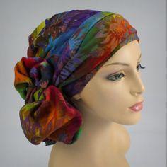 Diva ~ Batik Turban, Chemo hats, turbans for cancer, head scarf, hats… Head Wrap Scarf, Scarf Hat, Chemo Hair Loss, Hats For Cancer Patients, Hair Cover, Mode Hijab, Head Wraps, Headpiece, Headdress