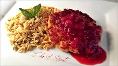CATFISH, SHRIMP, & CRAB CAKES w/ LEMON-BUTTER ORZO This was a very delicious and easy meal to prepare. And it all centered around the cranberry sauce. I don't always share recipes because I rarely use them, but I provide basic directions to help you create fabulousness in the kitchen if you want to try this…BON APPÉTIT!