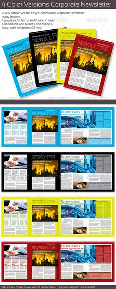 Newsletter Newsletter templates, Layout template and Design design - free business newsletter templates