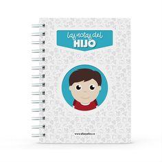 Cuaderno - Las notas del hijo, encuentra este producto en nuestra tienda online y personalízalo con un nombre. Projects To Try, Notebook, Books, Easy, Teacher Notes, Teacher Notebook, Notebooks, Store, Priest