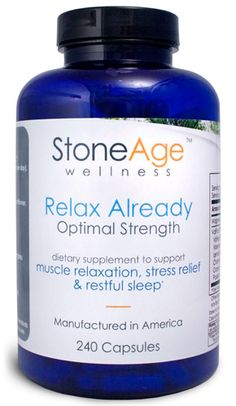 Stone Age Wellness~Relax Already~Natural Muscle Relaxer can be found at EarthTurns.com! Free shipping on all orders (within the USA only.)  #relaxation