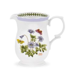 PORTMEIRION BOTANIC GARDEN TERRACE Scalloped edge pitcher 2.75 pt