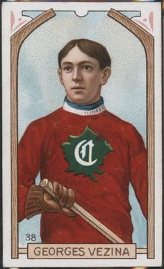 Georges Vezina Hockey Card - Proof - Imperial Tobacco - HockeyGods strives to untie hockey fans from across the globe covering all types of hockey imaginable. Montreal Canadiens, Mtl Canadiens, Hockey Shot, Hockey Goalie, Ice Hockey, History Of Hockey, Hockey Cards, Baseball Cards, Hockey Quotes