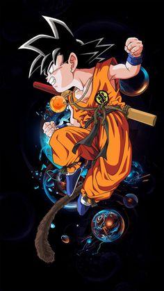 The Riddikulous Store Dragon Ball Gt, Dragon Ball Z Shirt, Wallpaper Do Goku, Mobile Wallpaper, Goku Drawing, Kid Goku, Anime Kawaii, Animes Wallpapers, Marvel