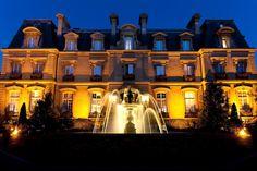 Restaurant of Saint James Paris Hotel in Paris, France.