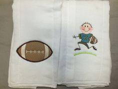 Football burp cloth baby boy football burp cloth sports burp