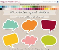 SALE 384 speech bubbles digital clipart frames by TheDigiRainbow, $3.50  https://www.etsy.com/listing/194187463/sale-384-speech-bubbles-digital-clipart?ref=sr_gallery_7&ga_order=date_desc&ga_view_type=gallery&ga_page=25&ga_search_type=all