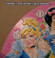 Bad nose job  #funny #haha #lol #laughtard #funnypics #Cinderella #nosejob #funnycartoons