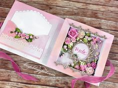 Klaudia here. I'd like to share with you a book card. Mini Scrapbook Albums, Scrapbook Cards, Exploding Box Card, Card Book, Fancy Fold Cards, Shaped Cards, Card Box Wedding, Mothers Day Cards, Handmade Birthday Cards