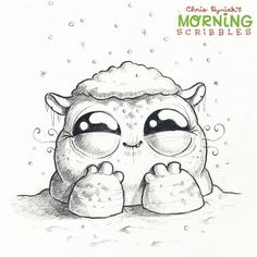 Tiefer Schnee!  ❄️❄️❄️ #monningscribbles # weihnachten2015