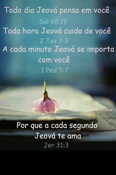 Nunca devemos esquecer de que Jeová nos ama. Jehovah's Witnesses, Jw Library App, Positive Thoughts, Life Is Good, Bible, God, Quotes, Life Hacks, Positivity