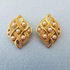 Swarovski Swan Logo Marked Earrings Golden Elegance!
