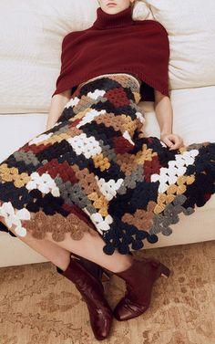 Get inspired and discover Rosetta Getty trunkshow! Shop the latest Rosetta Getty collection at Moda Operandi. Crochet Skirts, Knit Skirt, Crochet Clothes, Moda Crochet, Knit Crochet, Fall Fashion 2016, Fashion Show, Girl Fashion, Fashion Terms