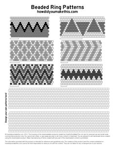 free peyote patterns - Google Search