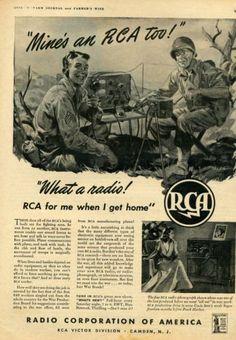 1943 RCA Radio Phonograph WWII Radio Equipment Magazine Ad | eBay