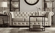 Classic Scroll Arm Button Tufted Chesterfield Style Beige Sofa Includes ModHaus Living Chesterfield Sofas, Beige Sofa, Tufting Buttons, Accent Chairs, Arm, Couch, Classic, Furniture, Home Decor