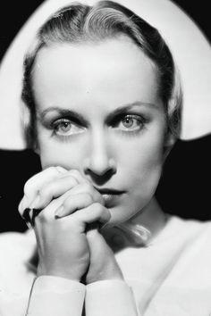 Carole Lombard in a publicity still for the film Vigil in the Night (1940)