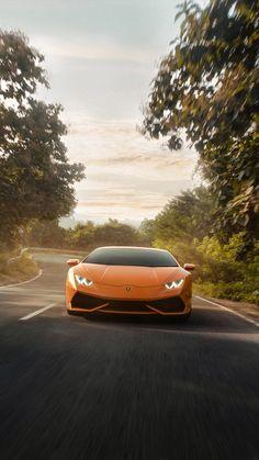 Lamborghini Huracan on Road 4K Ultra HD Mobile Wallpaper.