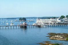 Boothbay Harbor, Maine.... I've walked across the bay on this walkway....