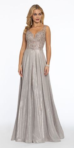 Embroidered Illusion Metallic A-Line Dress A Line Evening Dress, A Line Gown, Evening Dresses, Bridesmaid Dresses, Prom Dresses, Wedding Dresses, Elegant Dresses, Nice Dresses, Wedding Guest Style