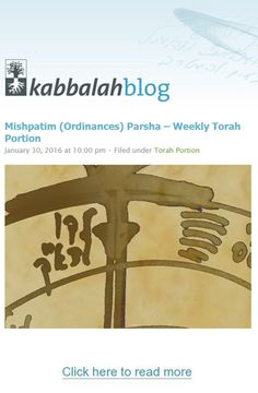 In the portion, Mishpatim (Ordinances), the Creator gives to Moses a collection of laws and judgments pertaining to various topics: between man and man, Hebrew slaves, Hebrew maidservant, murder, theft, lending money, and others. Read the portion with commentary by Dr. Michael Laitman here: http://www.kabbalahblog.info/2016/01/mishpatim-ordinances-parsha-weekly-torah-portion-3/ #TorahPortion #KabbalahInfo