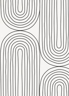 Quadro Decorativo - LINE ARCHES | Galeria9 White Pattern Wallpaper, Lines Wallpaper, Black Wallpaper, Wallpaper Minimalista, Poster Minimalista, Simplistic Wallpaper, Geometric Wallpaper, Abstract Line Art, Abstract Posters