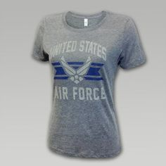 Air Force Women's Throw Back T-Shirt | ArmedForcesGear.com | Armed Forces Gear