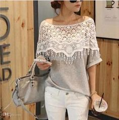 Wholesale Plus Size S-5XL 2015 New Fashion Women Lace Blouse Shirt Ladies Casual Summer Tops Hollow Crochet Shawl Collar Sheer Blouses, Free shipping, $16.34/Piece | DHgate Mobile