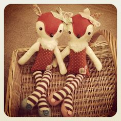 Handmade Bambi Deer Doll by thevanillasquirrel on Etsy, £20.00