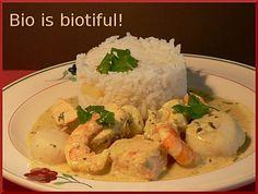 Curry de poissons et crevettes au lait de coco